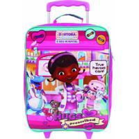 Mochila Rodinha Disney Doutora Brinquedos | Cor: Rosa