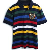 Camiseta Tommy Hilfiger Kids Menino Listrada Preta