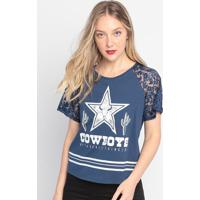 "Blusa "" Cowboy"" - Azul Marinho & Branca- My Favoritemy Favorite Things"