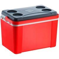 Caixa Térmica 34 Litros Lavita Com Alça Vermelha - Unissex