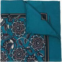 Dolce & Gabbana Lenço Floral De Seda - Azul