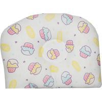Travesseiro Anatômico Para Bebê Estampa Cupcakes