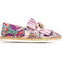 Casadei Floral Embroidered Espadrilles - Rosa