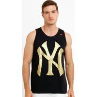 Camiseta Regata New Era Mlb New York Yankees - Masculino-Preto+Dourado