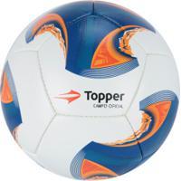 Bola De Futebol De Campo Topper V 12 - Branco Azul 9d48c7867438f