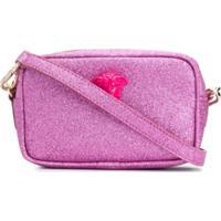 Young Versace Bolsa Transversal Com Brilho - Rosa