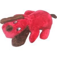 Brinquedo Doguinho- Vermelho & Marrom- 10X5Cm- 44 Patas