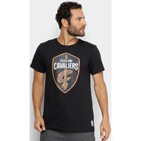 Camiseta Nba Cleveland Cavaliers Big Logo Masculina - Masculino-Preto
