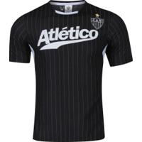 Camiseta Do Atlético-Mg Custom - Masculina - Preto/Branco