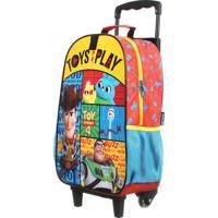 Mochila De Rodinhas Escolar Toy Story | Cor: Azul