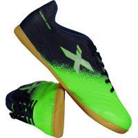 Chuteira Oxn Fusion Grip 2 Futsal Verde E Azul