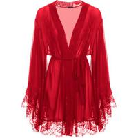 Robe Tule Passione Loungerie – Vermelho