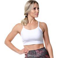 Top Fitness Feminino Basics Branco Rock Fit