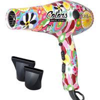 Secador Profissional 3800 Ionic Colors- Branco & Rosa