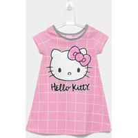 Pijama Infantil Hello Kitty Camisola - Feminino-Rosa Claro