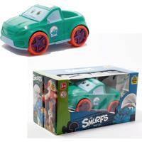 Carrinho Smurfs Para Criança - Verde - Samba Toys - Kanui