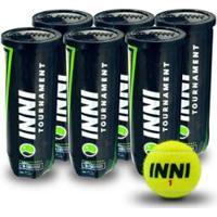 Bola De Tênis Inni Tournament - Pack Com 6 Tubos - Unissex