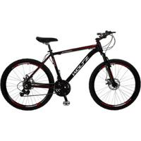 Bike Woltz Aro 26 Disco 27V Quadro Alumínio Câmbios Shimano - Unissex