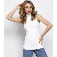 Blusa Canelada Com Vazado- Branca- Forumforum