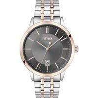 Relógio Hugo Boss Masculino Aço Prateado E Rosé - 1513688