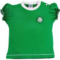 364a4a690d Netshoes  Baby Look Cores Clube Meia Malha Palmeiras Reve Dor - Feminino