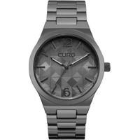Relógio Feminino Euro Eu2036Ylm/4P 40Mm Pulseira Fume - Feminino-Cinza