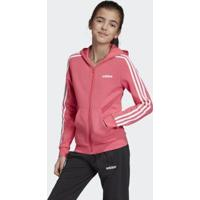 Jaqueta Infantil Adidas Com Capuz Feminina - Feminino-Rosa