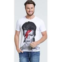 Camiseta Masculina Estampa David Bowie Marisa
