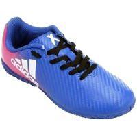 Chuteira Futsal Adidas X 16.4 Bb5735, Cor: Azul/Rosa, Tamanho: 39