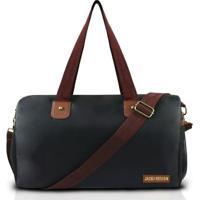 Bolsa Jacki Design De Viagemacademia - Feminino-Preto+Marrom