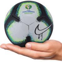 Minibola De Futebol De Campo Nike Rabisco Copa América 2019 - Branco/Preto