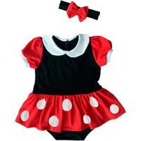 Fantasia Minnie Bebê - Feminino-Vermelho