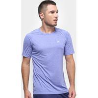 Camiseta Fila Basic Melange Masculina - Masculino-Azul+Verde
