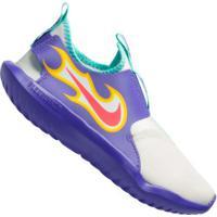 Tênis Nike Flex Runner Fire Ps - Infantil - Roxo/Branco
