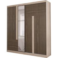 Guarda-Roupa Casal Com Espelho Agile 2 Pt 3 Gv Nogal E Teka