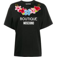 Boutique Moschino Printed Logo T-Shirt - Preto