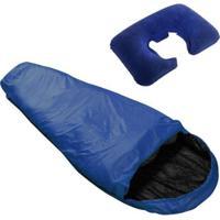 Saco De Dormir Sarcófago Micron Xlite Nautika + Travesseiro De Pescoço Inflável - Unissex