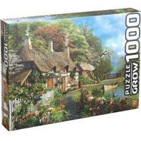 Quebra-Cabeça 1000 Peças Casa No Lago - Unissex-Colorido
