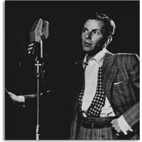 Quadro Frank Sinatra Uniart Preto & Branco 30X30Cm