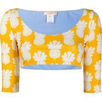 La Doublej Blusa Cropped Portofino - Amarelo