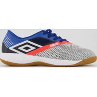 Chuteira Umbro Soul Pro Futsal Cinza E Azul