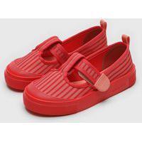 Sapatilha Mini Melissa Infantil Basic Print Vermelha