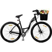 Bicicleta Master Bike Aro 29 Urbis Freio À Disco 3 V Nexus C/ Cesta - Unissex