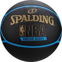 Bola Basquete Nba Spalding Highlight Tam. 7 - Unissex-Preto+Azul