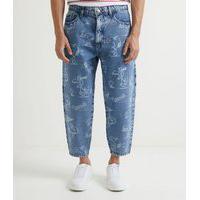 Calça Jeans Fit Balloon Estampa Laser Snoopy