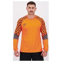 Camisa Umbro Twr Graphic Pro Velocita Goleiro Laranja