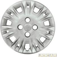 Calota Aro 15 - Grid - New Fiesta 2014 Até 2018 - Fixação Por Parafusos - Prata - Cada (Unidade) - 123Cp-Pta-U