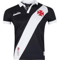 Camisa Do Vasco Da Gama I 2019 Diadora - Masculina - Preto