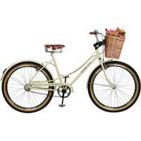 Bicicleta Master Bike Bella Retrô - Aro 26 - Freios V-Brake Em Alumínio - Feminina - Bege