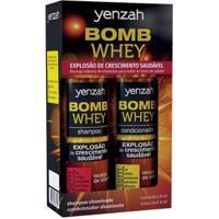 Kit Shampoo Yenzah Bomb Whey 240Ml + Condicionador Yenzah Bomb Whey 240Ml - Unissex-Incolor